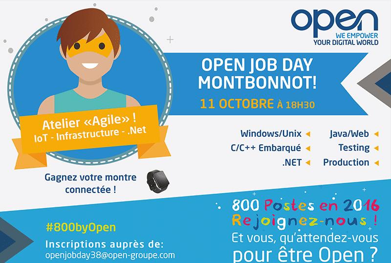 800 postes en 2016 chez OPEN… Prochaine soirée recrutement le 11 octobre !