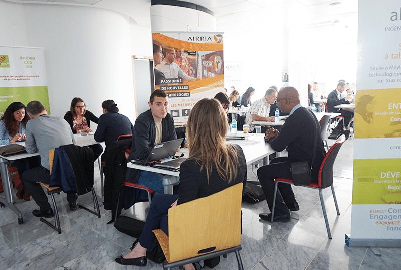 Plus de 380 entretiens réalisés lors du dernier forum emploi d'inovallée !
