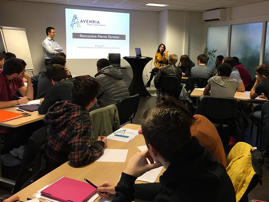 Sensibilisation à la culture entrepreneuriale : rencontre entre Avenria et le Lycée Pierre Termier