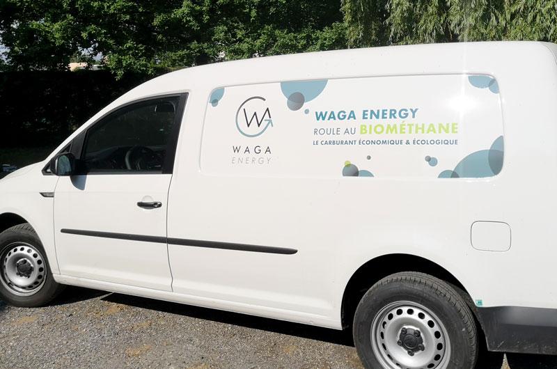 Waga Energy, startup militante, montre l'exemple et carbure au bioGNV !