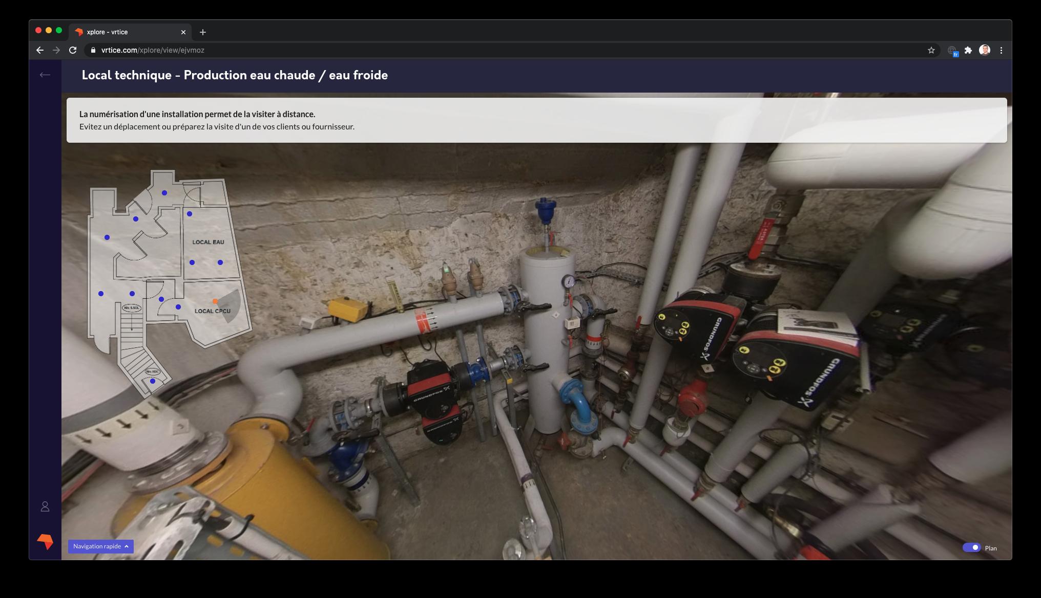 Avec sa plateforme web, vrtice démocratise la visite virtuelle pour la maintenance des locaux techniques des bâtiments résidentiels et tertiaires