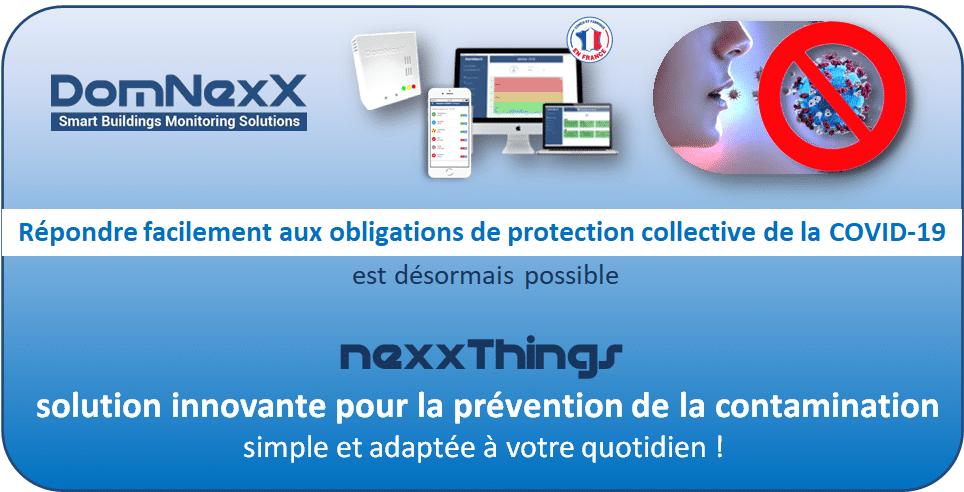 Inovallée installe les capteurs DomNexX dans ses salles de réunions pour prévenir les risques de transmission aérienne du SARS-Cov2.