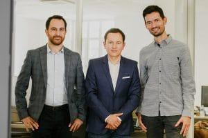 Hani Sherry, Carlos Prada et Nicolas Beaudouin, les fondateurs de TiHive.