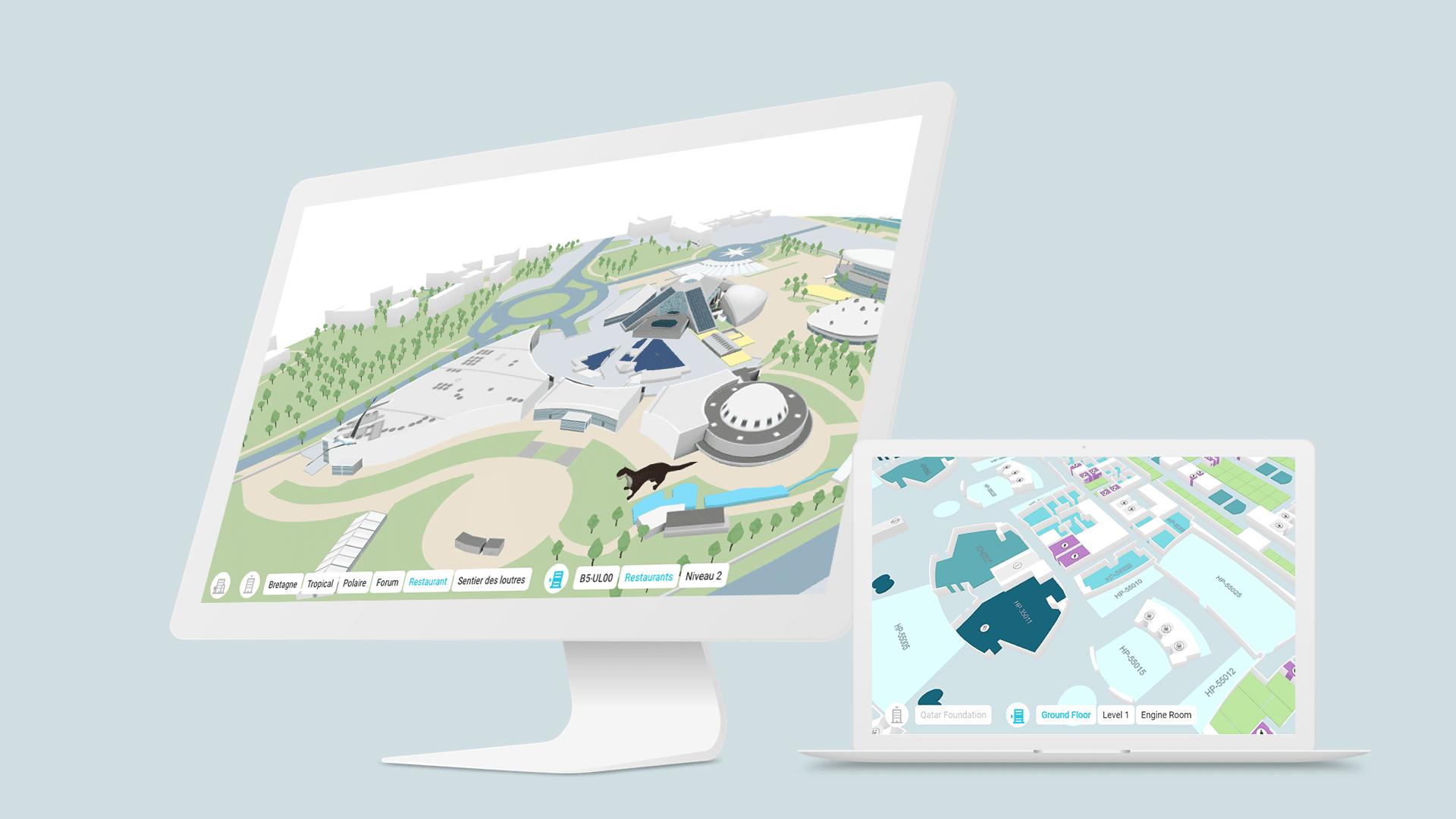Les cartes de navigation interactives de Visioglobe intégrées par Orange Business Services pour redéfinir les espaces de travail